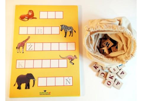 Krzyzówki dla dzieci. Układanka literowa