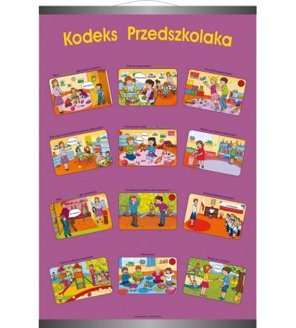 Plansza ścienna ″Kodeks przedszkolaka″ (100cm x 70cm)