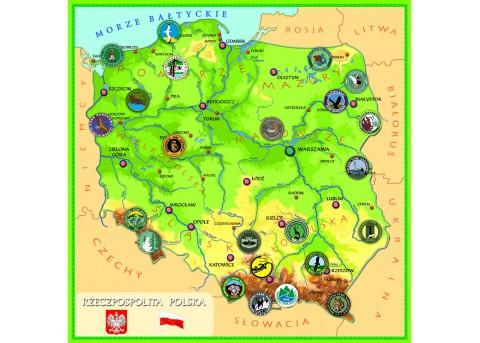 Parki narodowe - magnetyczna mapa Polski