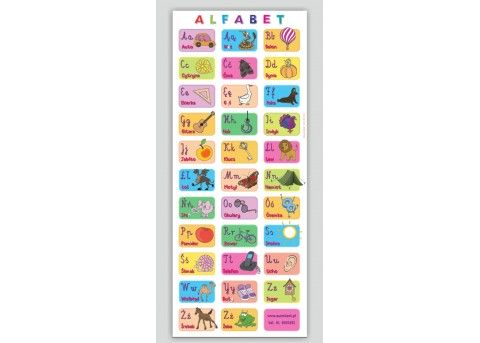 Alfabet obrazkowy - mata edukacyjna