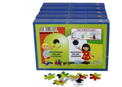 """Puzzle edukacyjne """"Recykling"""" (5 pudełek w zestawie)"""