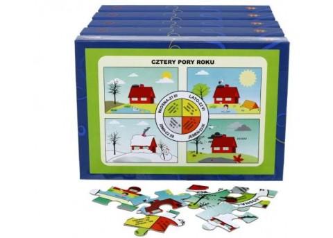 """Puzzle edukacyjne """"Las i ochrona środowiska"""" (5 pudełek w zestawie)"""