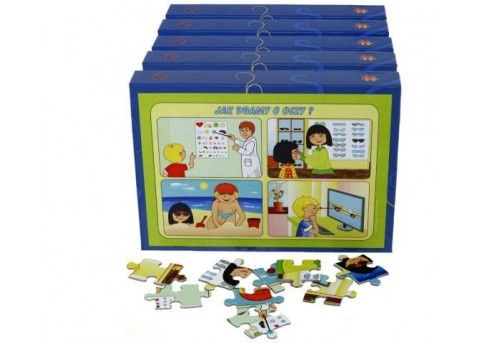 """Puzzle edukacyjne """"Dbam o zdrowie - higiena"""" (5 pudełek w zestawie)"""
