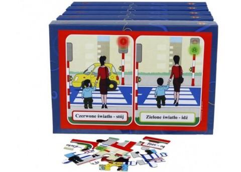 """Puzzle edukacyjne """"Bezpieczne dziecko"""" (5 pudełek w zestawie)"""